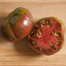 TOMATO 'Pink Berkeley Tie Dye', Organic Heirloom Tomato